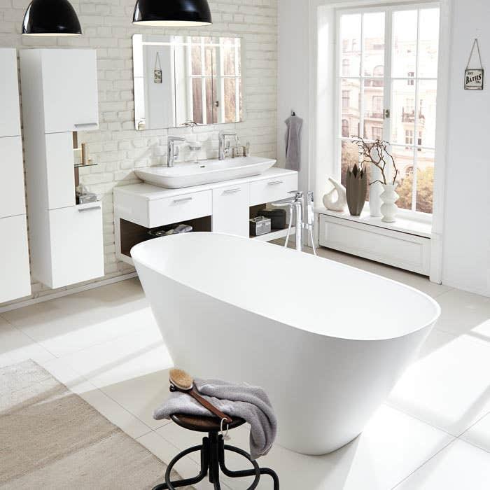freistehende badewannen vigour. Black Bedroom Furniture Sets. Home Design Ideas